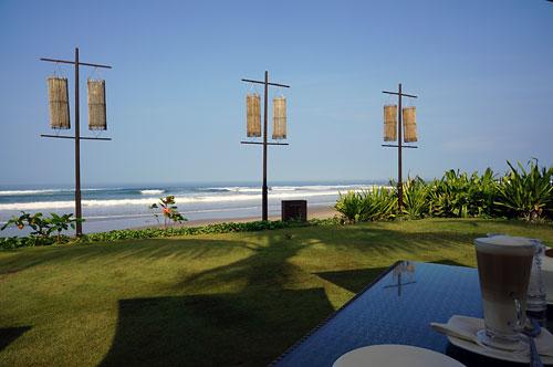 サマヤのレストランBreezeからの眺望