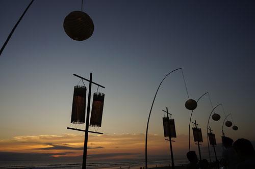 レストランBreezeからの夕陽